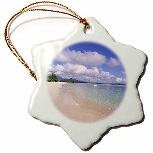 3dRose orn_89635_1 Waimanalo Beach, Oahu, Hawaii, USA - US12 DPB0744 - Douglas Peebles - Snowflake Ornament, Porcelain, 3-Inch
