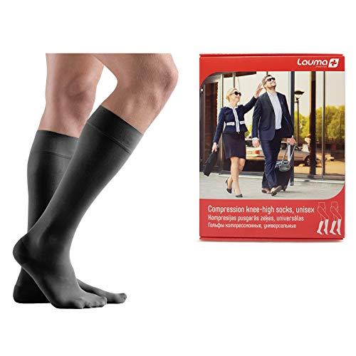 Lauma Medical, Medias de Compresión Hasta la Rodilla, con Puntera Cerrada para Mujeres y Hombres, Calcetines de Compresión Largos de 23-32 mmHg, Clase 2.