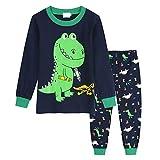 Jurebecia Pijama Niño Pijamas Niños con Dinosaurio Conjunto Niño Ropa Niño para Dormir Edad 5-6 Años Azul