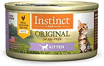 Instinct Original Kitten Grain Free Real Chicken Recipe Natural Wet Canned Cat Food by Nature's Variety, 3 oz. Cans (Case of 24)