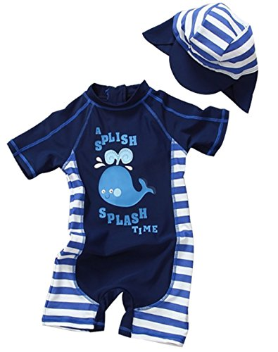 DUTUT Infant Baby Boy Long Sleeve One Piece Rash Guard Swimsuit UV Sun Protection