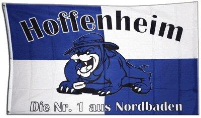 Flagge Fanflagge Hoffenheim Bulldogge - 90 x 150 cm