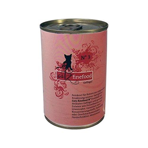 Pets Nature CATZ finefood No.3 Lot de 6 boîtes de Nourriture pour Chat 400 g