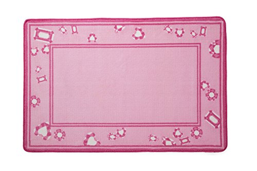 Kids Area Rug, Girls Pink Jewels | Delta Children| Children's Room Carpet