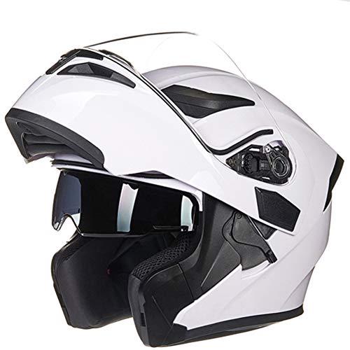 SK Studio Unisex Motorrad Helme Motorradhelm Helmets Integralhelm Rollerhelm mit Sonnenblende Doppelvisiere Scooter-Helm Jethelme Motocrosshelme (M,L,XL)