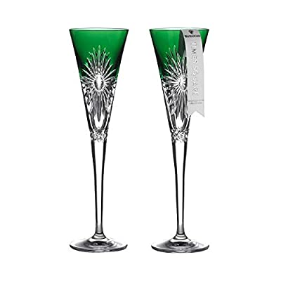 Waterford 2021 Times Square Flute Pair Emerald