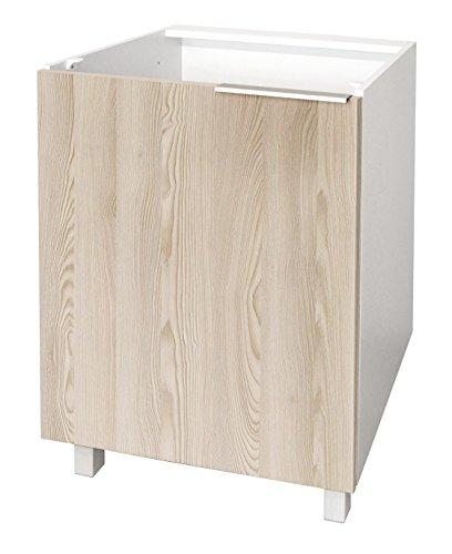 Berlioz Creations CP6BF - Mueble bajo de Cocina con 1 Puerta (60 x 52 x 83 cm)