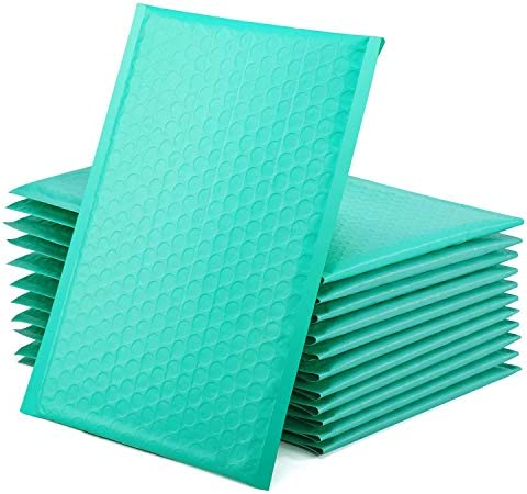 GSSUSA Teal Poly Bubble Mailers 6x10 Padded Envelopes 0 Shipping Envelopes Bubble Mailers Self product image