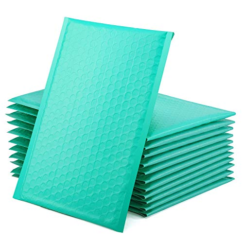 GSSUSA Teal Poly Bubble Mailers 6x10 Padded Envelopes #0 Shipping Envelopes Bubble Mailers Self Sealing Padded Envelope 50Pack