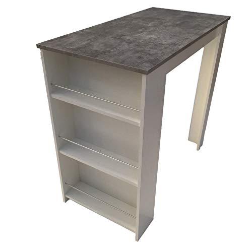 Möbel SD Bartisch Stehtisch Beton weiß