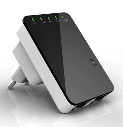 300 Mbit Wireless N Mini Router Wifi Repeater WLAN Hotspot versterker Wireless LAN van het merk PRECORN
