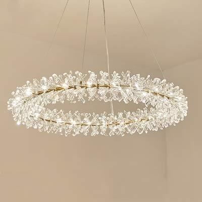 KAIBINY YY Nordic Grandes de Lujo araña de Cristal de 80 cm 40 60 Anillo de la lámpara de la decoración de la Sala de Estar Dormitorio Cuerpo de iluminación iluminación Carlota