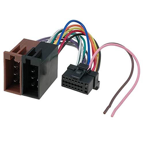 Sound-Way - Cables de Adaptador ISO para Radio de Coche Sony MDX 800 Rec/XAV-7W / MEX-1HD / MEX-5DI - C-88
