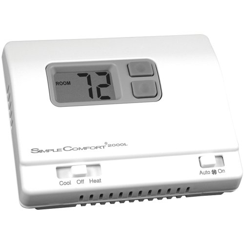 ICM Controls SC2000L Simple Comfort Non-Programmable Thermostat with Backlit Display, Honeywell: T8400, T8401 Series, Robert Shaw: 300-206, 8400-1, 9400, 9500, RS2110, White-Rodgers: 1F78-144, Multicolor