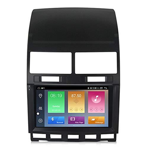 Amimilili Android 9 Car Stereo para Volkswagen Touareg 2002-2010 navegación para automóvil con cámara Trasera BT USB WiFi Llamadas Manos Libres/FM/Control del Volante,M300 3+ 32g