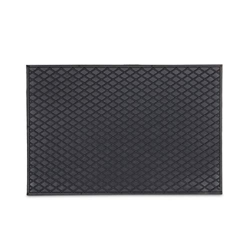 Relaxdays Gummi Fußmatte 60 x 40 cm Fußabtreter aus 100% Gummimaterial mit Anti-Rutsch-Funktion Schmutzfangmatte zum Füße Abtreten Outdoor Gummimatte als Schmutzmatte und Tür Eingangsmatte, schwarz