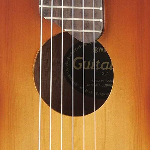 ヤマハYAMAHAギターウクレレギタレレミニギターGL1TBS本格的なアコースティックサウンドをコンパクトボディで再現専用ソフトケース付属タバコブラウンサンバースト