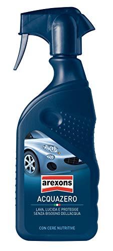 Arexons 1044147 Acquazero Pulizia Lavaggio e Lucidatura Auto Senza Acqua, 400 ml
