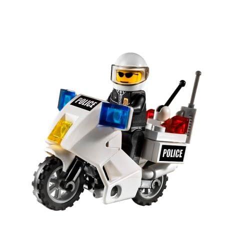Genuine Lego City 7235 Police Bike Motorcycle Motorbike White