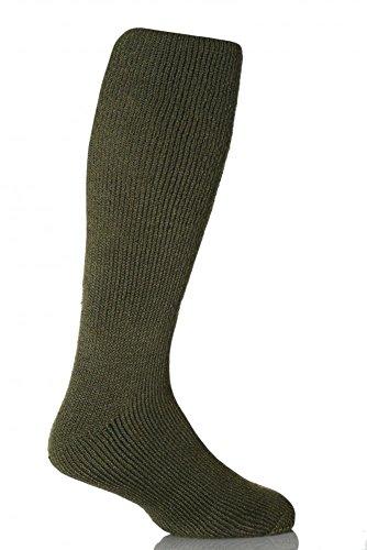 1 paire de chaussettes chaudes pour homme - Pour l'hiver - Taille 39-45 - Vert forêt