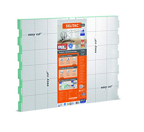 SELITAC 5 mm AquaStop - Verlegeunterlage für Parkett und Laminat mit Feuchteschutz (5 m²)