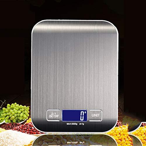 JSX roestvrijstalen keuken trap, elektronisch gewicht, 5 kg 10 kg Domestica keukenweegschaal, mini-grammo, diagram, B, 10 kg