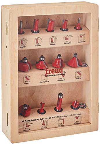 13-Piece Super Router Bit Set with 1/2-Inch Shank and 's TiCo Hi-Density Carbide - Freud 91-100