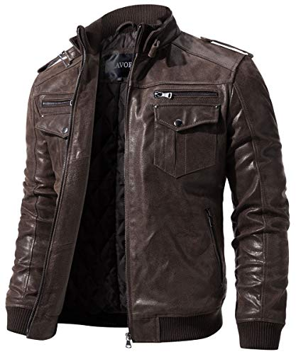 Genuine Leather Jackets Mens