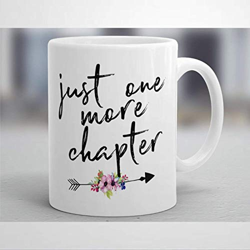 Just One More Chapter Coffee Mug,Ceramic Mug Cup for Office and Home,Tea...