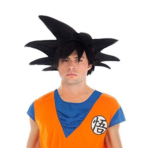 Generique - Dragon Ball-Perücke Son Goku Accessoire schwarz