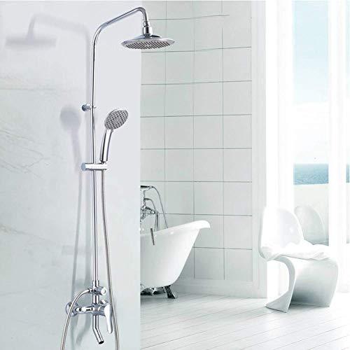 LIIYANN Regenduschkopf/Handheld-Combo, praktische Drucktaste zur Durchflussregelung für die einfache Einhandbedienung der Duschkabine