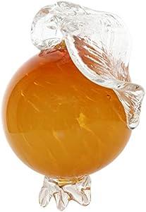 Figura de Cristal Fruta Naranja Vidrio Estilo Antiguo Murano Paperweight