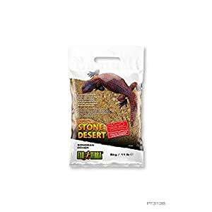 Exo Terra - Stone Desert clay natural terrarium substrate without chemicals (5 kg, Ocher Stone).