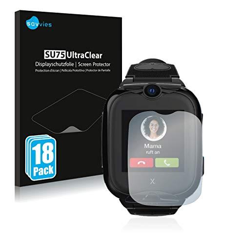 Savvies 18x Schutzfolie kompatibel mit Xplora Go 2 Bildschirmschutz-Folie Ultra-transparent