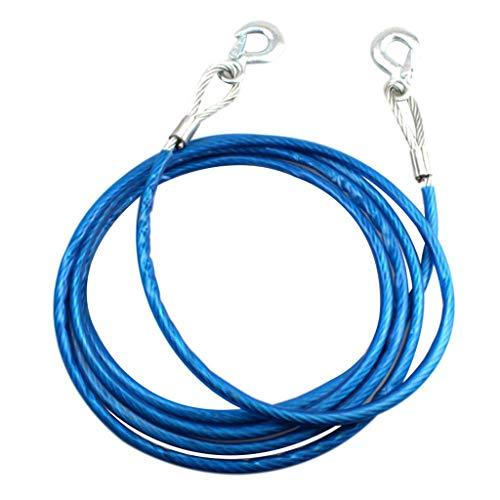 Tenlacum Abschleppseil aus Stahl, 5 m, 7 Tonnen, 10 mm Durchmesser, Blau