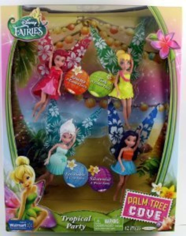 con 60% de descuento Jakks Pacific Disney Fairies Exclusive Palm Tree Cove Tropical Tropical Tropical Party Set, 4-Pack  salida para la venta