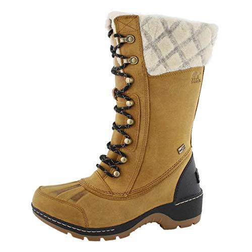 SOREL Women's Whistler Tall Non Shell Boot, Camel Brown/Black,Size 6 B(M) US
