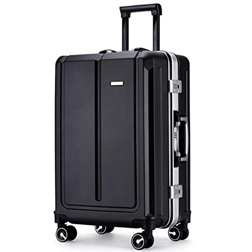 fosa1 Hand Luggage Trolley case PC Trolley Case Business Password Boarding Suitcase, 20, 24 Inch (Color : Black, Size : 24inch)