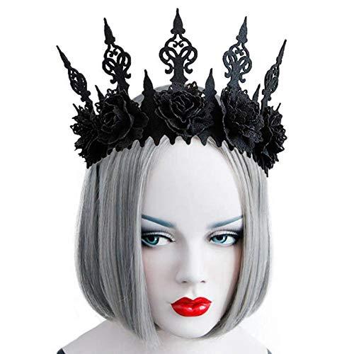 winnerruby Halloween Gotik Schwarze Königin-Krone - Schwarze
