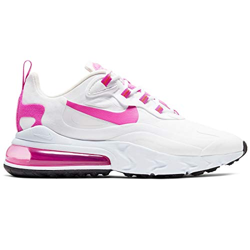 Nike Womens Air Max 270 React Casual Running Shoe Cj0619-100 White Size: 5.5 UK