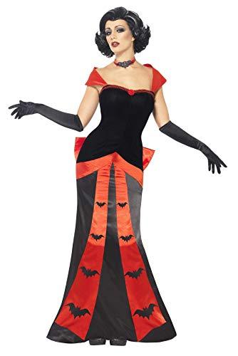 Smiffys Costume de vampire glam, avec robe, avec robe, gants et ras du cou