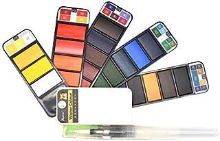 Generic Brands Watercolor Paint Set Artist Paint SetBeginner Art Set Adult/ Kids Travel Watercolor Kit Profesional Solid W...