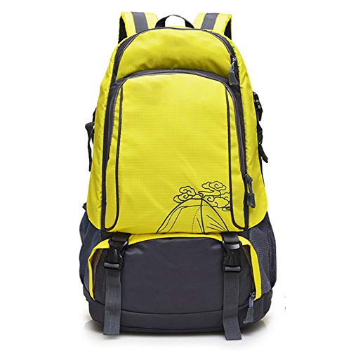 LXXYJ Outdoor Trekking Backpack,Waterproof Camping Backpacking,Hiking Backpack Suitable for Women Men Child Running Cycling Mountaineering Travel,Yellow,upgraded version