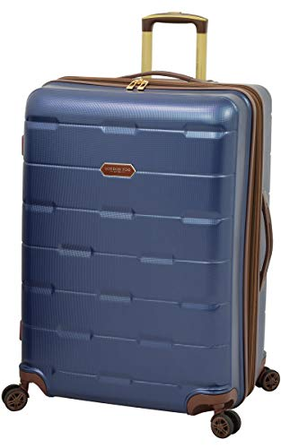 LONDON FOG Brentwood Hardside Luggage with Spinner Wheels, Navy, Carry-On 20-Inch