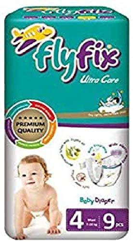 FlyFix Pannolini per Bambino, Ultra Comfort e Protezione, Maxi (7-18 Kg) - 9 Pz - 600 g