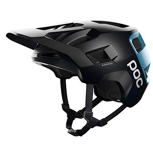 POC, Kortal MTB Bike Helmet for Trail and Enduro, Uranium Black/Basalt Blue Matt, Medium/Large
