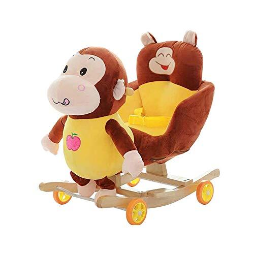 NXYJD Caballo de oscilación de Troya Animales de Juguete Mecedora de bebé del Carro de la Carretilla del niño for el Regalo de cumpleaños de los niños