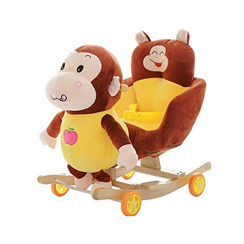Great Features Of JWDYA Animal Rocking Horse Trojan Toy Rocking Chair Baby Carriage Child Trolley fo...