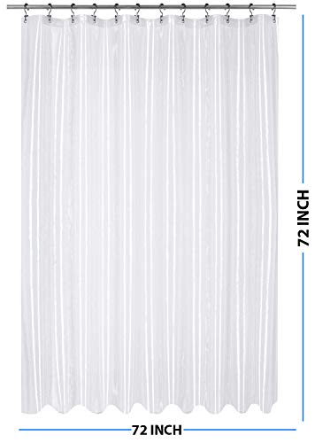 Utopia Bedding 10 Gauge EVA Shower Curtain Liner, 72 by 72 Inches,...