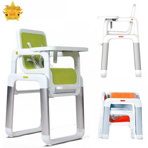 Star Ibaby Pouch. Chaise haute pour bébé. Convertible en Chaise Plateau amovible Mousse siège ultra confortable. (Green)